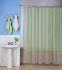 1 H10 SAGE/TAUPE  WATER REPELLENT SHADES FABRIC BATHROOM SHOWER CURTAIN