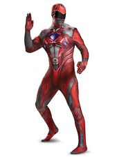 Adult Power Rangers Body Suit Costume Red Cosplay Comic Con Mens Size XL ~ NEW