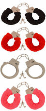FLUFFY RED BLACK PINK HANDCUFFS FANCY DRESS SEXY ROLE PLAY NIGHT TOY HEN/STAG DO