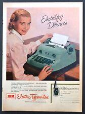 IBM Electric Typewriter PRINT AD - 1952 vintage print ad Electrifying Difference