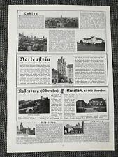 Labiau Bartenstein Rastenburg Neidenburg Ostpreussen Orig. DRUCK von 1917