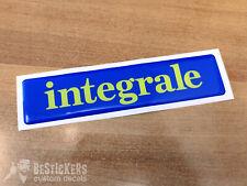 1 ADESIVO targhetta badge logo lancia delta hf INTEGRALE 4x4 evoluzione