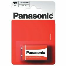 2 Panasonic Zinc Carbon 9v 6lr61 Battery E Block 6lf22