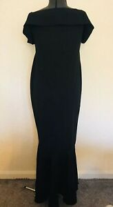Boohoo Black Fishtail Maxi Evening Party Dress in Plus Sizes 18 20 22 24 26 28