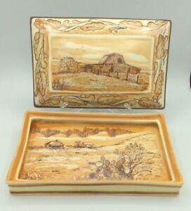 VTG One-of-a-Kind Ceramic Porcelain Hand Painted Lidded Trinket Cigarette Box