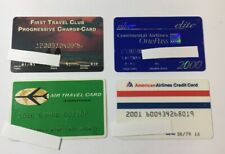 4 Vintage Expired Credit Cards For Collectors -  Airline And Travel Lot (7124)