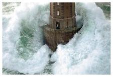 Phares dans la Tempete – La Jument Jean Guichard Landscape Print Poster Lg