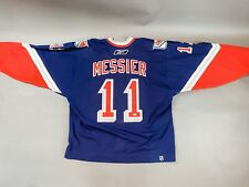 MARK MESSIER AUTOGRAPHED SIGNED JERSEY NEW YORK RANGERS BAS COA