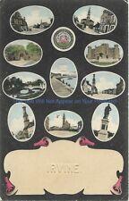 Scotland Irvine Multiview 1907 Vintage Postcard
