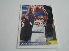 1992/93 UPPER DECK BASKETBALL DIKEMBE MUTOMBO CARD #255***DENVER NUGGETS***
