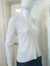 Karen Millen White Sequin Cardigan Top Size 1. UK 12.