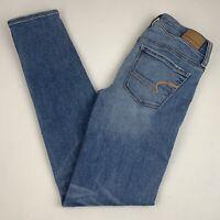 American Eagle Skinny Jeans Women's Size 0 Ne(x)t Level Stretch Light Wash