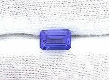 1.43 Carat Emerald Cut Intense Color 7.9mm x 5mm x 3.9mm Natural Tanzanite Gem