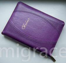 RUSSIAN Bible leatherette violet soft cover, zipper, indexes NEW 2016