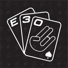 Jeu De Cartes E30 - Tuning Sticker, Choquant Fun Autocollants Pour Voiture,