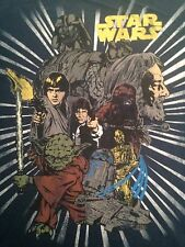 Star Wars Vintage Retro Darth Luke Han Yoda C3 R2 Graphic MEN'S T-Shirt Size XL