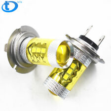 NEW 2x H7 4300K Yellow LED Fog Driving Light 2323 80W High Power DRL Bulb USA