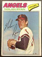 NOLAN RYAN 1977 TOPPS VINTAGE BASEBALL CARD #650