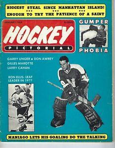 1969 JAN Hockey Pictorial Magazine Cesare Maniago, Minnesota North Stars FAIR