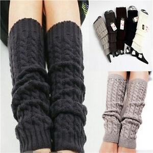 Womens Winter Knit Crochet Knitted Leg Warmers Legging Boot Cover Hot Fashion_DB