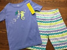 NWT Girl/'s Gymboree Mermaid seahorse shirt shorts pajamas gymmies ~ 4