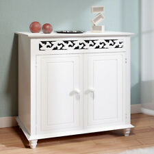 DEUBA® Sideboard Kommode Jersey Mehrzweckschrank Anrichte Flur Holz Antik Weiß