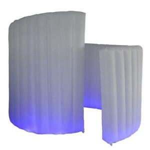 New Style Inflatable Photo Booth White Spiral Photo Wall LED Background -Wedding