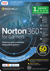 Norton 360 Gamers 1 User 1 Year for PC Mac Android Gaming + (2 Months FREE)