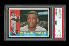 """1960 Topps BB Card #200 Willie """"The Say Hey Kid"""" Mays SF Giants PSA EX-MT 6 !!!!"""