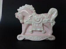 Vintage Nursery Decor Pink Shabby Chic Pony Planter Container Napco Mid Century