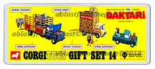 CORGI TOYS GIFT SET 14 DAKTARI BOX ARTWORK NEW WIDE FRIDGE MAGNET