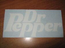 """DR. PEPPER - VINYL STICKER - IN """" WHITE"""""""