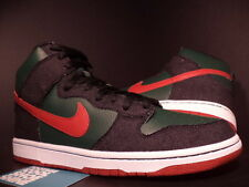 2009 Nike Dunk High Premium SB RESN DENIM FOREST GREEN PAPRIKA RED 313171-362 13