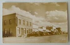 1946 Rppc Postcard Old Cars Front Of Baker Hotel & Street Scene Baker Montana