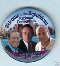 GIULIANI Pataki BLOOMBERG 2004 Convention pin