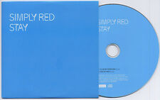 SIMPLY RED Stay 2007 UK 2-track promo CD SRSAM035