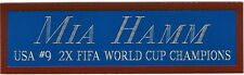 MIA HAMM USA SOCCER WORLD CUP NAMEPLATE FOR AUTOGRAPHED Signed BALL-JERSEY-PHOTO