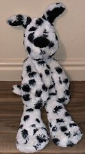 "JellyCat ~  Spotted Dalmatian Dog Plush ~ Merryday ~ White Black Spots ~ 16"""
