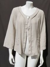 cf26d94bbd NEW CARLA CONTI Italy Sand Beige Soft Thin Linen Shirt Jacket Top size M L
