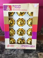 Vintage Woolworth Woolco America's Christmas Stores Glass Tree Ornaments 1 Doz