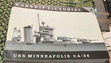 USS MINNEAPOLIS CA-36 WARSHIP PICTORIAL #2 CLASSIC WARSHIPS PUB RARE OOP