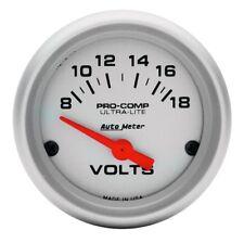 Auto Meter Voltaje PRO COMP Válvula Ultra Lite analógico voltímetro 52mm 8-18v #