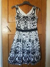 Bravissimo Pepperberry 10  Curvy Smart Dress Black and White
