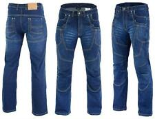 Motor jeans blauw Stretch & Stone Washed