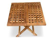 teak garden furniture folding picnic table 50x50x45