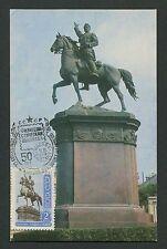 RUSSIA MK 1972 REITER PFERD HORSE CHEVAL MAXIMUMKARTE MAXIMUM CARD MC CM d980