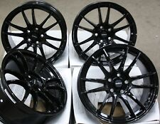 "18"" BLACK SUZUKA ALLOY WHEELS FITS 5X100 AUDI A1 A3 VW BORA POLO GOLF VENTO"