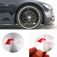 4x Wheel Center Hub Caps Emblem RS S LINE Badge Decals Stickers All Model S251