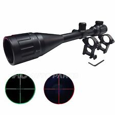 6-24x50AOEG Red & Green Mil-dot Reticle Tactical Optical Rifle Scopes Rail Mount