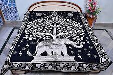Elefante De Árbol De La Vida Indio Tapiz Cobertor colgante de pared de decoración de pared Colcha